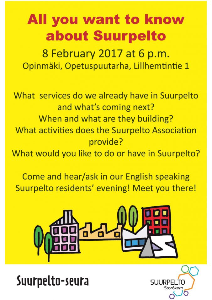 Suurpelto English speaking residents' evening