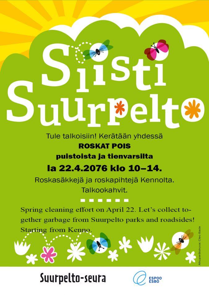 Siisti Suurpelto -talkoot 2017