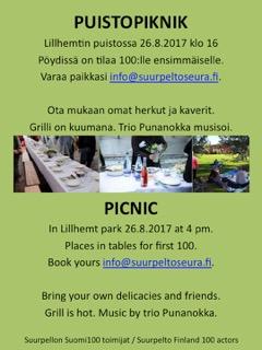 Espoo-päivän Puistopiknik 26.8.2017 LIllhemtin puistossa