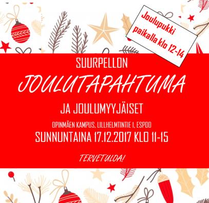 JOulutapahtuma Suurpellon oPINMÄESSÄ SU 17.12.2017
