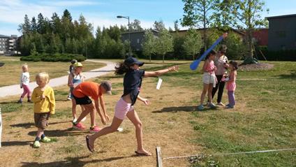Suurpellon lasten urheilukisat Lillhemtin puistossa lauantaina 17.8.2019 klo 14