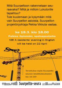 Asukasilta Suurpllossa ke 18.3.2020 Opinmäki