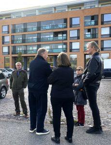 Puistokävely virkamiehet Suurpellossa 1.10.2020